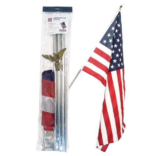 United States Residential Flag Set - with flag
