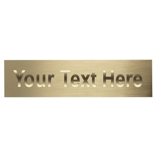 Brass Engraving Plate - 1.5in x 5.125in