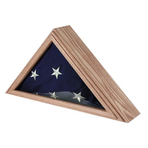 Capitol Flag Case for 3ft x 5ft Flag Oak