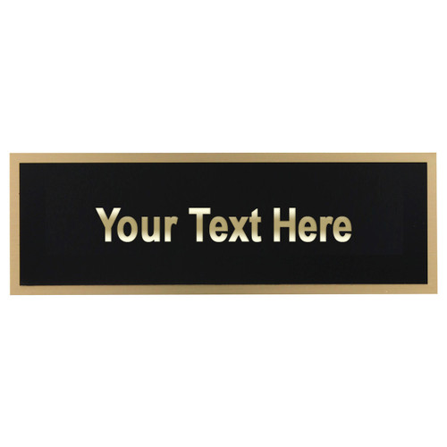 Black-on-Brass Engraving Plate - 1.75in x 5in