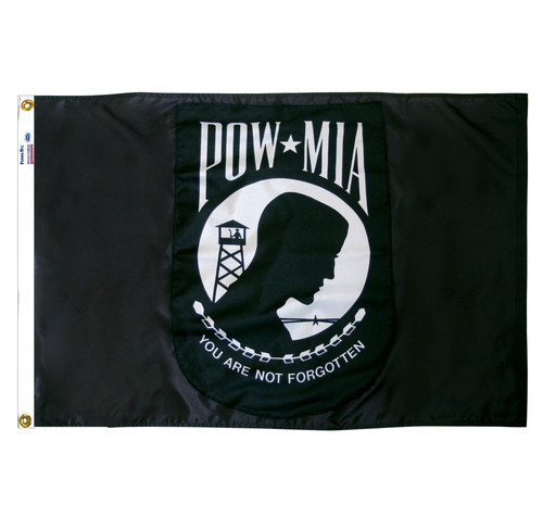 POW/MIA Flag 2x3ft Nylon - Double Sided