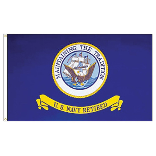 US Navy - Retired - 3ft x 5ft Printed  Polyester