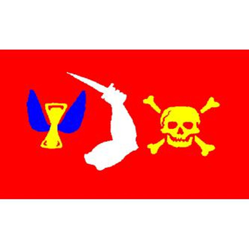 Pirate (Christopher Moody) Flag 3ft x 5ft printed polyester
