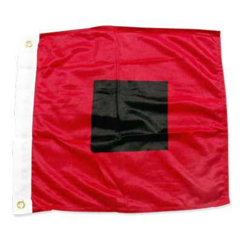 Hurricane warning flag 18in x 18in Super Knit Polyester
