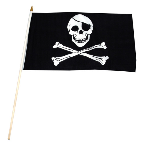 Pirate (Jolly Roger) Flag 12x18 inch stick flag