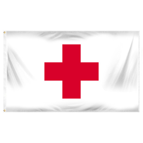 Red Cross 3ft x 5ft Polyester Flag