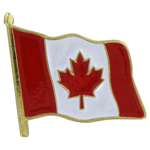 Waving Canada Flag Lapel Pin