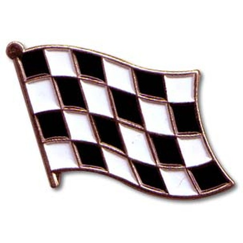 Checkered Lapel Pin