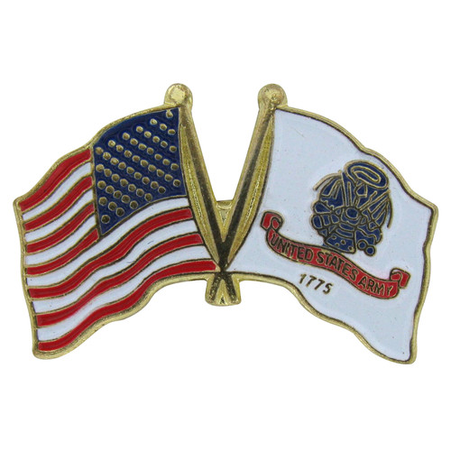 US and Army Flag Lapel Pin
