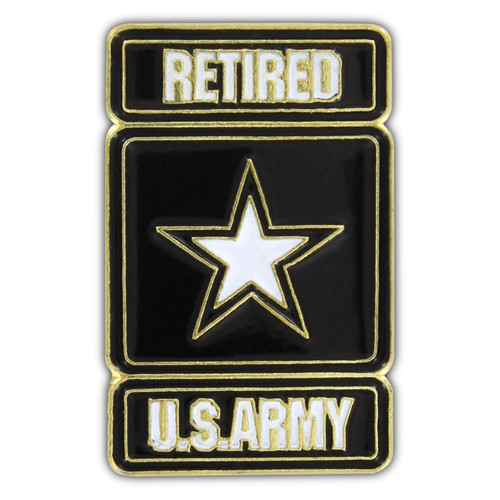 US Army Retired Lapel Pin