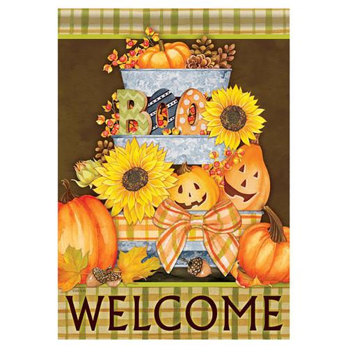 Halloween Banner Flag - Halloween Buckets