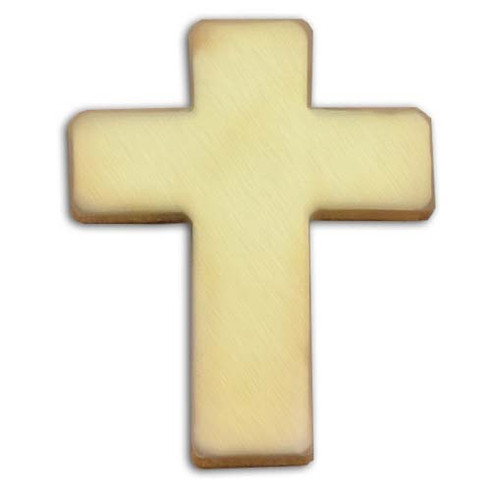 Christian Cross gold finish lapel pin