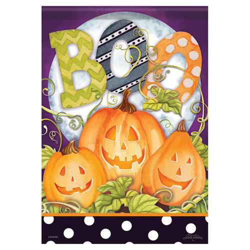 Halloween Banner Flag - Boo Moon