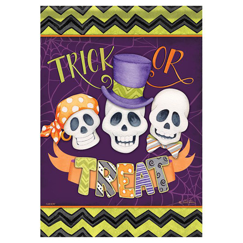 Halloween Banner Flag - Skeleton Friends