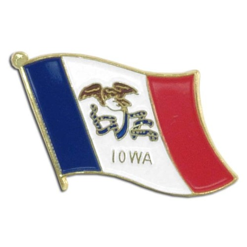 Iowa Flag Lapel Pin