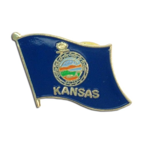 Kansas Flag Lapel Pin