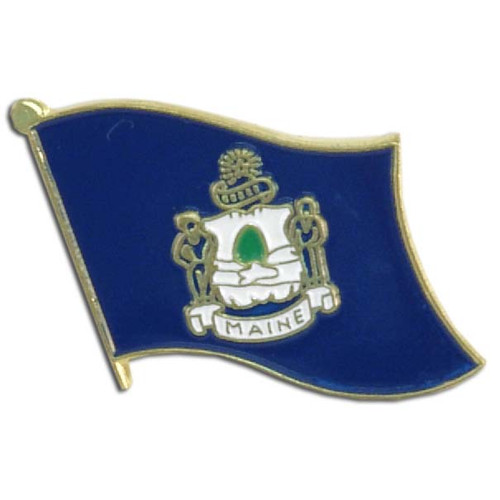 Maine Flag Lapel Pin