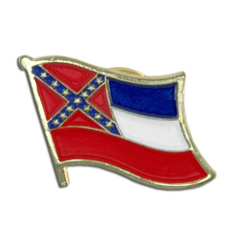Mississippi Flag Lapel Pin