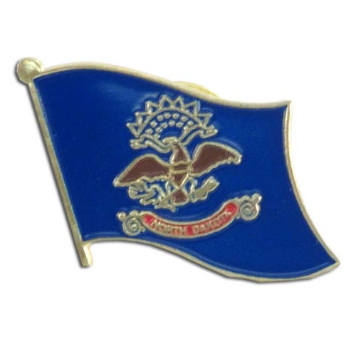 North Dakota Flag Lapel Pin
