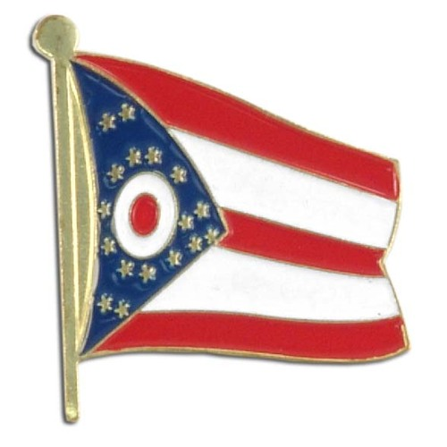 Ohio Flag Lapel Pin