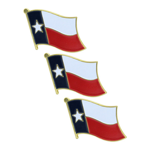 Texas Flag Lapel Pin - 3 Pack