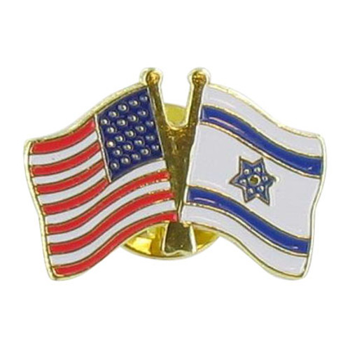 Double Lapel Pin USA and Israel