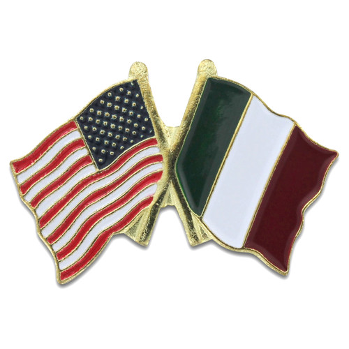 USA and Italy Double Lapel Pin