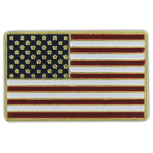 USA Flag Lapel Pin - Gold