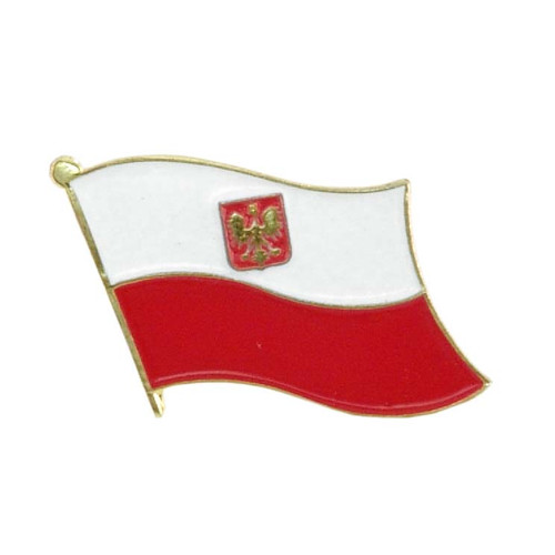 Poland with Eagle flag Lapel Pin
