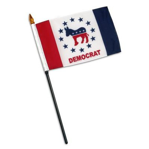 Democratic Party Design 2 - 4 x 6 inch Flag