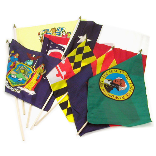 Set of 50 State Flags - 12x18 inch