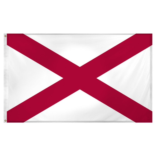 Alabama flag 3 x 5 feet Super Knit polyester