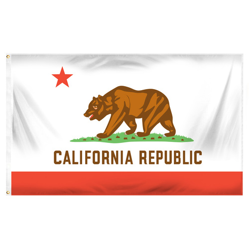 California 3ft x 5ft Sewn Polyester Flag