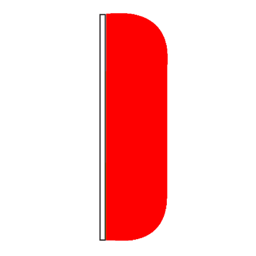 Solid Color Red Flutter Flags