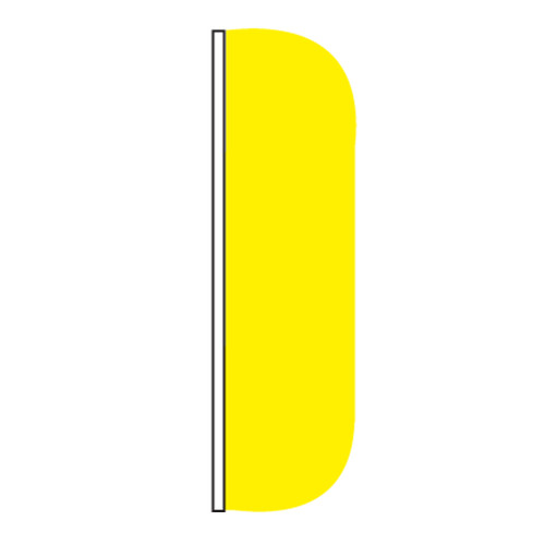 3ft x 8ft Solid Color Yellow Flutter Flags