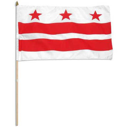 Washington DC flag 12 x 18 inch