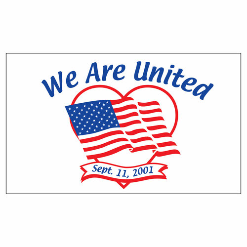 911 Flag - 3ft x 5ft Nylon - We Are United
