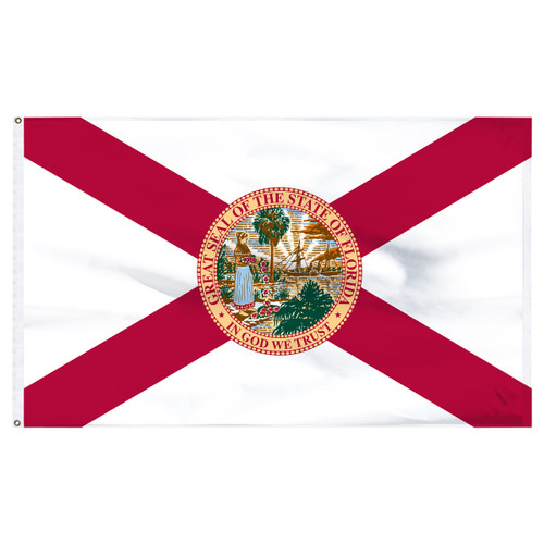 Florida 8ft x 12ft Nylon Flag