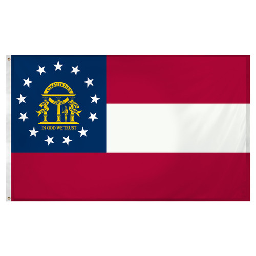 Georgia 3ft x 5ft Super Knit Polyester  Flag