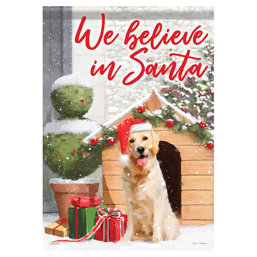 Christmas Banner Flag - Christmas Puppy