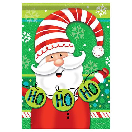 Christmas Banner Flag - Whimsy Santa