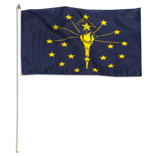 Indiana flag 12 x 18 inch