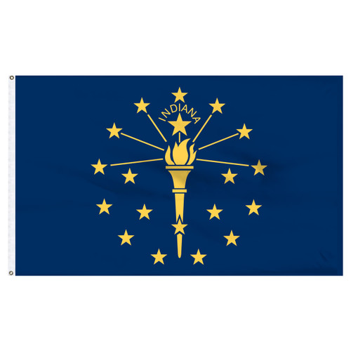 Indiana Flag 5 x 8 Feet Nylon