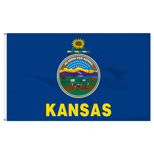 Kansas Flag 5 x 8 Feet Nylon