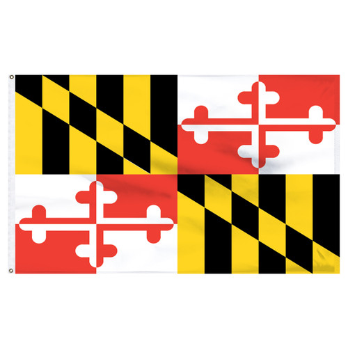 Maryland Flag 5 x 8 Feet Nylon