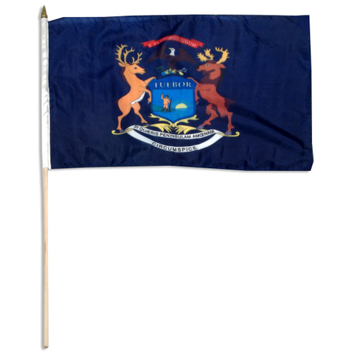 Michigan flag 12 x 18 inch
