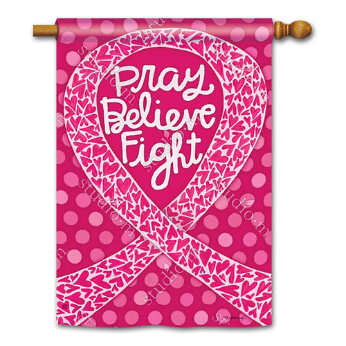 Everyday Banner Flag - Think Pink