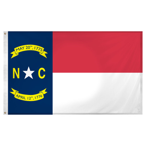 North Carolina Flag 3ft x 5ft Super Knit polyester