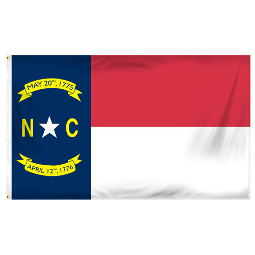 North Carolina 3ft. x 5ft. Sewn Polyester Flag