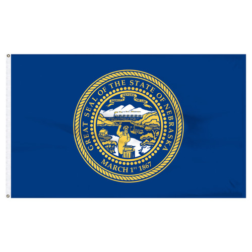 Nebraska 8ft x 12ft Nylon Flag
